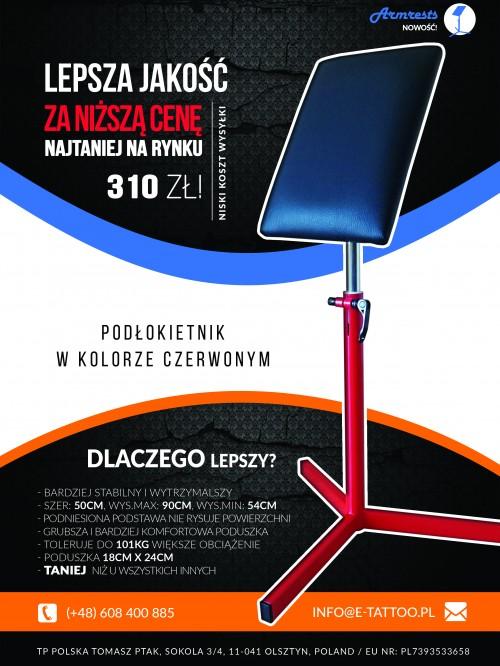 podłokietnik_do_tatuazu_czerwony-tp polska