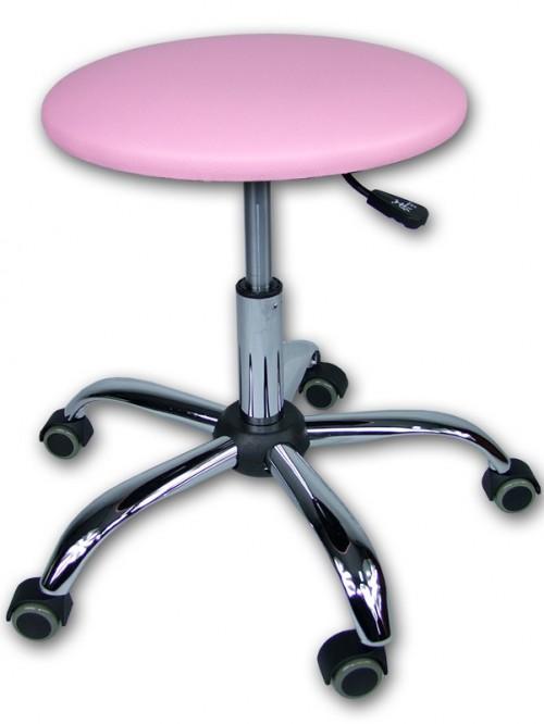 taboret stołek obrotowy różowy